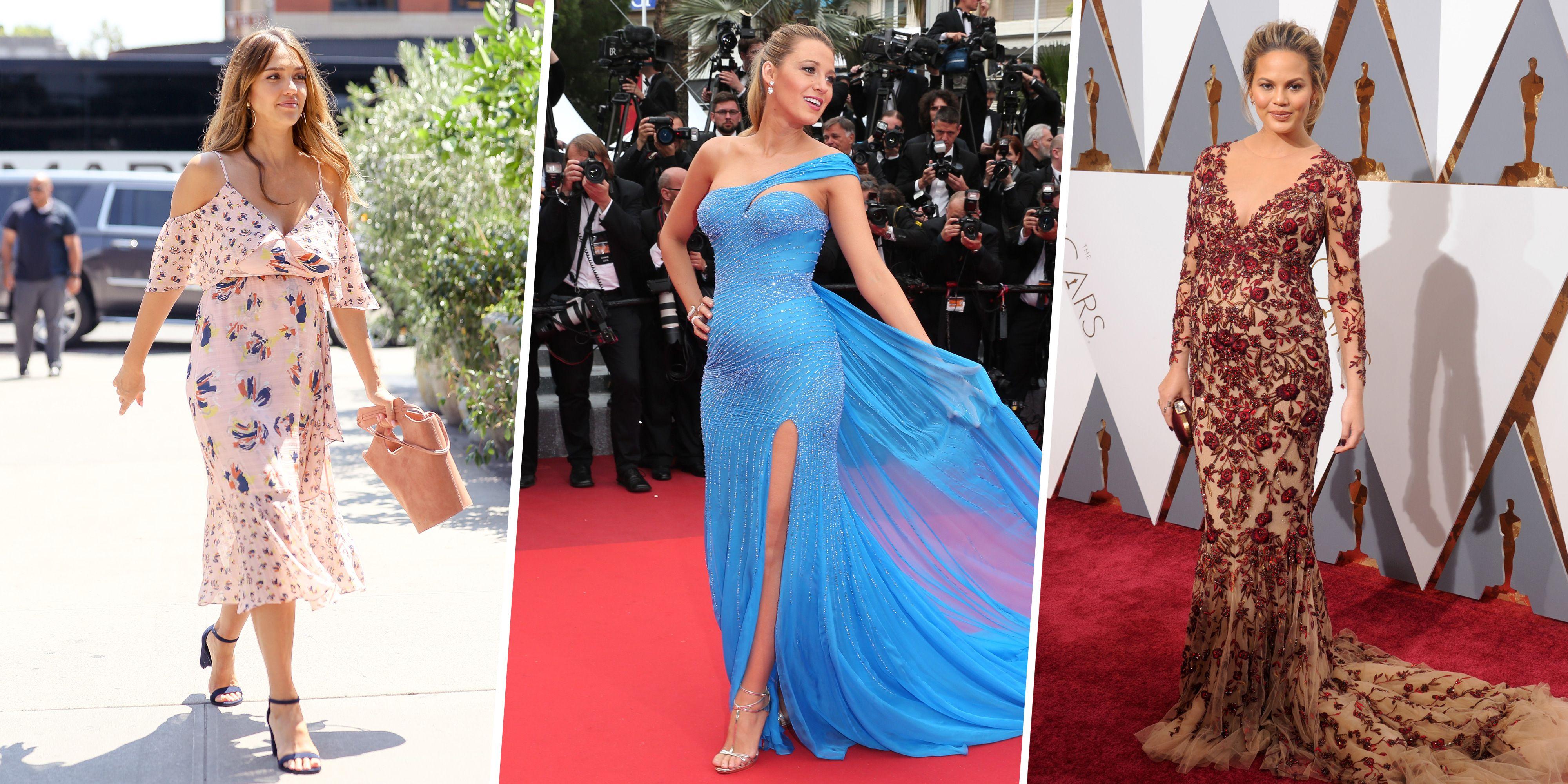 902b8d44d9c Pregnant Celebrities Best Looks - Celebrity Maternity Fashion