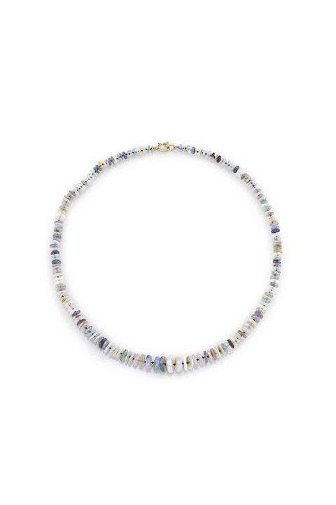 "<p>The classy way to wear shells.&nbsp;</p><p><em data-redactor-tag=""em"" data-verified=""redactor"">Irene Neuwirth One of a Kind Opal Necklace</em><span class=""redactor-invisible-space"" data-verified=""redactor"" data-redactor-tag=""span"" data-redactor-class=""redactor-invisible-space""><em data-redactor-tag=""em"" data-verified=""redactor"">, price upon request</em></span><br></p><p><strong data-redactor-tag=""strong"" data-verified=""redactor"">BUY IT: <a href=""http://ireneneuwirth.com/"" target=""_blank"" data-tracking-id=""recirc-text-link"">ireneneuwirth.com</a>.</strong></p>"