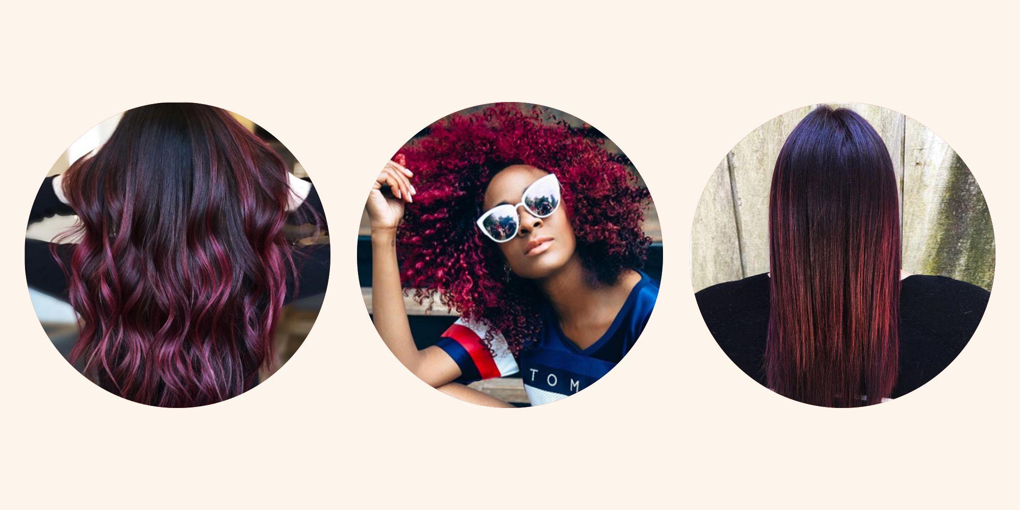 The 13 Prettiest Burgundy Hair Ideas Best Maroon And Wine Hair Colors