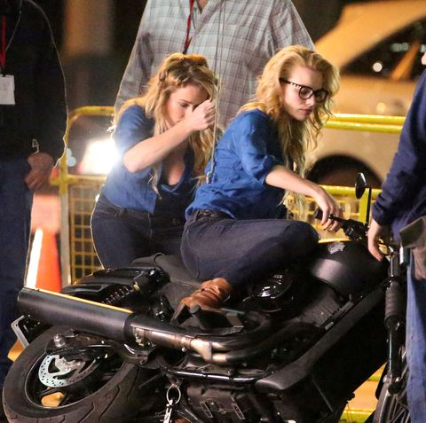 "<p>Sparks were flying on the set of <em data-redactor-tag=""em"" data-verified=""redactor"">Suicide Squad</em>—out of the the motorcycle, that is.</p>"