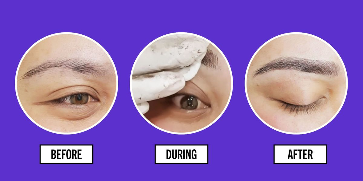 The Best Eyebrow Tattoos - Eyebrow Tattoo Before and After ...