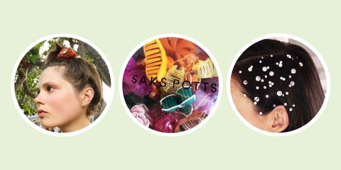 Head, Ear, Hair accessory, Fashion accessory, Material property, Child, Circle, Collage,