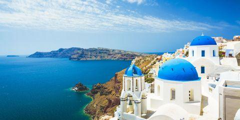 Blue, Dome, Landmark, Sky, Azure, Sea, Tourism, Vacation, Summer, Architecture,