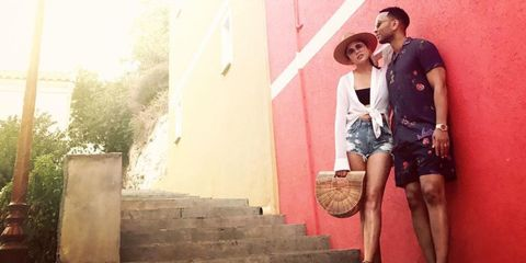 Chrissy Teigen John Legend romantic vacation Corsica