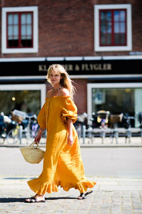 Photograph, Street fashion, Orange, Yellow, Clothing, Fashion, Beauty, Snapshot, Footwear, Outerwear,