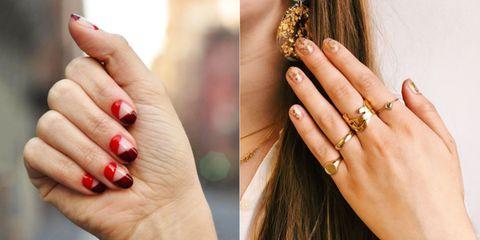 Nail, Manicure, Finger, Nail care, Nail polish, Hand, Cosmetics, Skin, Beauty, Ring,