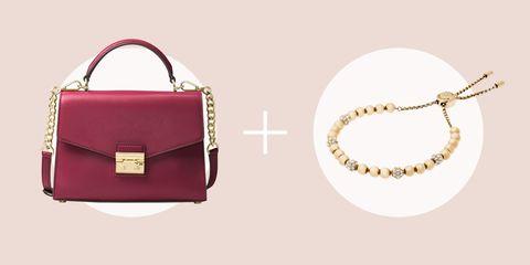 Handbag, Bag, Fashion accessory, Shoulder bag, Product, Pink, Leather, Magenta, Material property, Font,