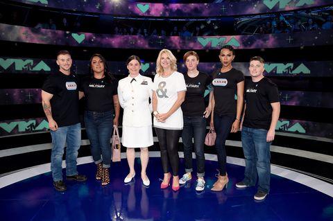 Transgender military members at VMAs