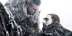 Jon Snow and Benjen Stark in Game of Thrones