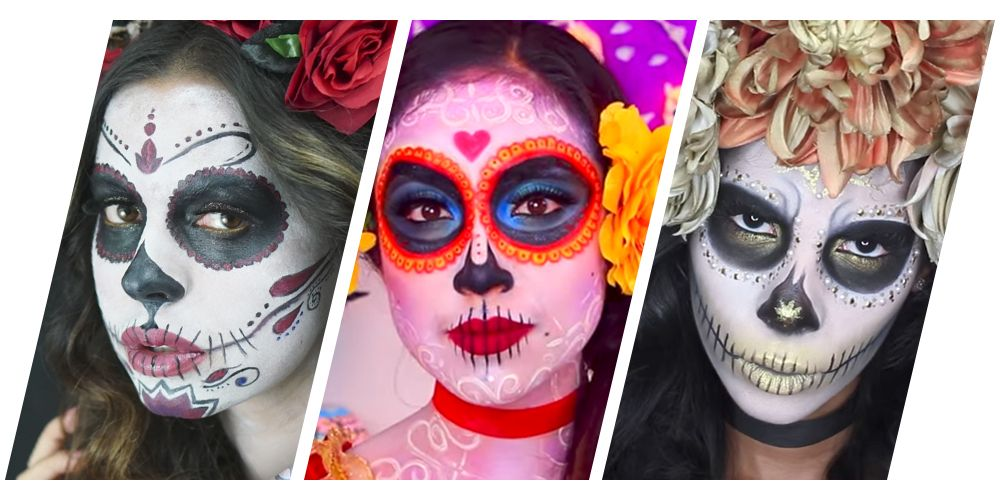 7 Gorgeous Dia De Los Muertos Makeup Ideas Easy Day Of The Dead - Day-of-the-dead-makeup-tutorial-video