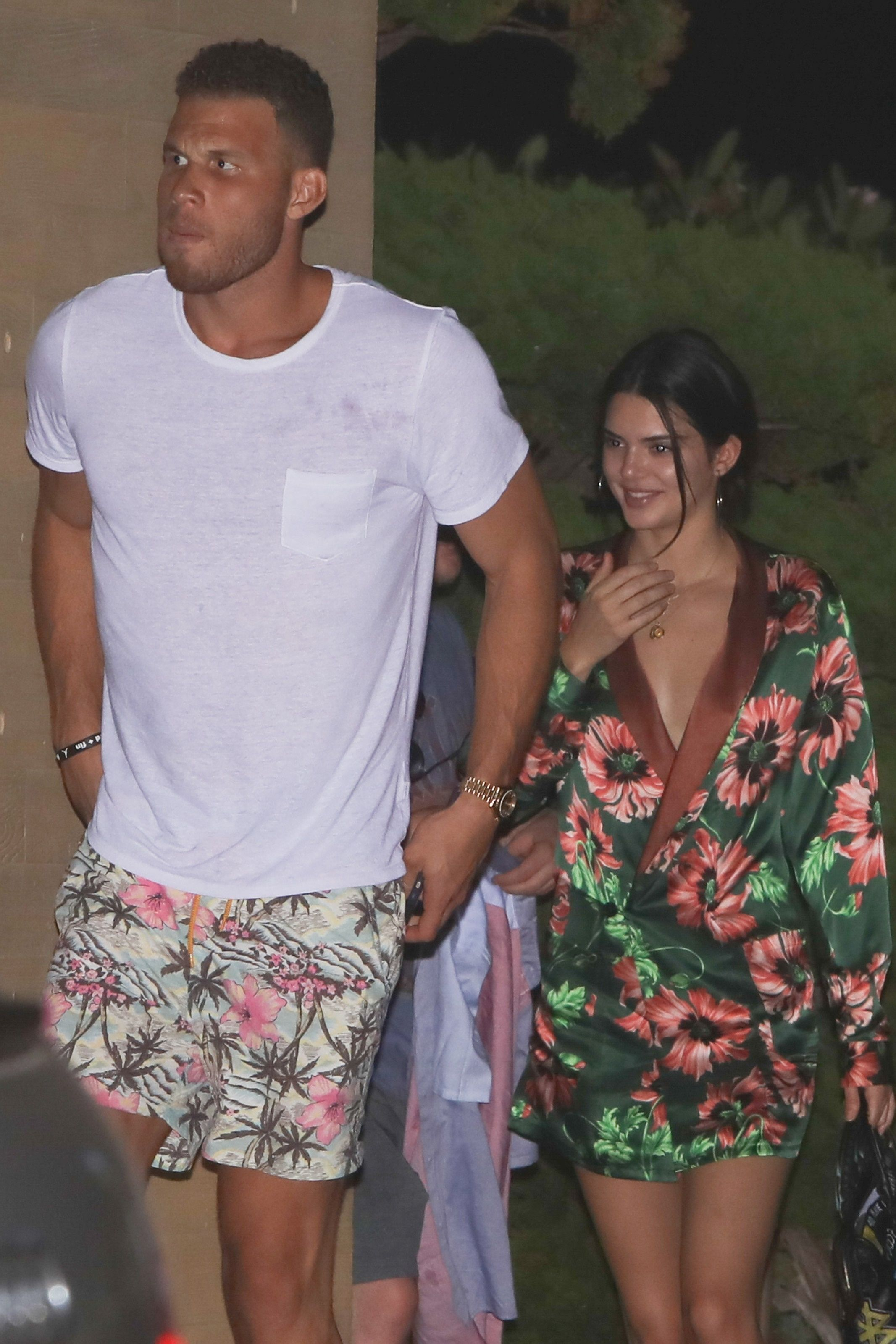 kendall jenner hanging out with blake griffin in LA