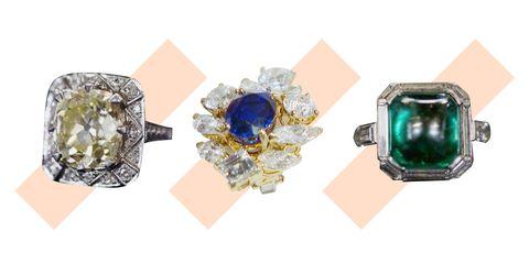 Blue, Jewellery, Gemstone, Fashion accessory, Diamond, Body jewelry, Yellow, Ring, Emerald, Aqua,