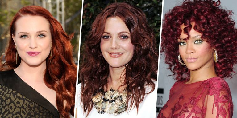 Dark Red Hair Colors - Pretty Red Hair Color Ideas