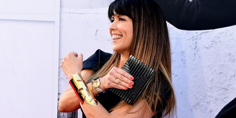 Hair, Black hair, Hairstyle, Beauty, Long hair, Lip, Finger, Hand, Bangs, Nail,