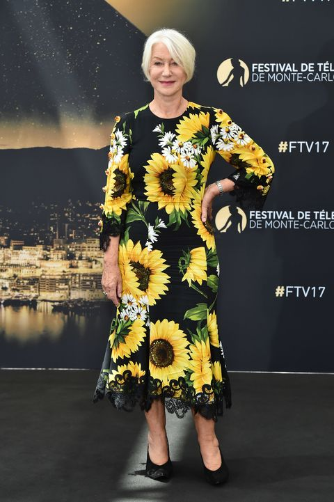 "<p>Put Helen in her sunflower Dolce &amp; Gabbana dress and <a href=""http://www.marieclaire.com/fashion/news/a26450/shonda-rhimes-pasta-dress/"" target=""_blank"" data-tracking-id=""recirc-text-link"">Shonda Rhimes in her spaghetti one</a>, and you've got a Tuscan picnic, basically. Also, that pose.</p><p><em data-redactor-tag=""em"" data-verified=""redactor"">Shop similar: Dolce &amp; Gabbana, $1,497</em><strong data-redactor-tag=""strong"" data-verified=""redactor""></strong></p><p><strong data-redactor-tag=""strong"" data-verified=""redactor"">BUY IT: <a href=""http://www.matchesfashion.com/us/products/1096178?country=USAwcB"" target=""_blank"" data-tracking-id=""recirc-text-link"">matchesfashion.com</a>.</strong></p>"