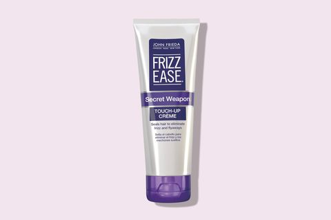 "<p>Hi, please meet my not-at-all-secretive secret weapon. Filled with avocado oils, glycerin, and absolutely zero harsh silicones, the lightweight cream does what you'd expect a touch-up cream to do: define curls, add a bit of shine, and immediately smooth frizz in a really natural-looking way.</p><p>Fact: I have two tubes at work, at home, in my bathroom, and at my grandma's house, and probably hidden somewhere near you right now, too. It's that good.</p><p><i data-redactor-tag=""i"">John Frieda Frizz-Ease Secret Weapon Touch-Up Crème, $7 </i></p><p><strong data-redactor-tag=""strong"">BUY IT: <a href=""http://www.ulta.com/secret-weapon-touch-up-creme?productId=prod6041628"">ulta.com</a>.</strong></p>"