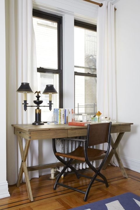 "<p>Do you actually eat at your <a href=""http://www.elledecor.com/design-decorate/room-ideas/g11653791/dining-room-light-fixtures/"" target=""_blank"">dining room</a> table, or does your breakfast bar get all the use? You need to <strong data-redactor-tag=""strong"">be practical about what your living habits really are</strong>, so you can make the most efficient use of each room.</p><p>""First I walk through the space and imagine myself living in it and begin the process of floor planning before I've even considered one piece of furniture,"" Bero says.</p><p><span data-redactor-tag=""span""></span></p><p>Elizabeth needed a home office, which in a 750-square foot bedroom means Bero had to prioritize desk space over say extra storage or seating.</p>"