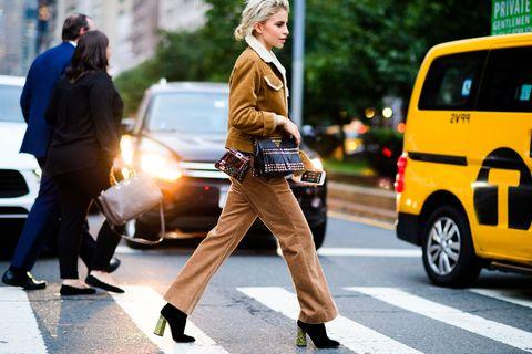Street fashion, Fashion, Snapshot, Yellow, Pedestrian, Street, Road, Infrastructure, Footwear, Photography,