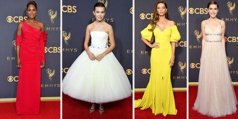 Dress, Red carpet, Clothing, Gown, Carpet, Shoulder, Yellow, Fashion model, Fashion, A-line,