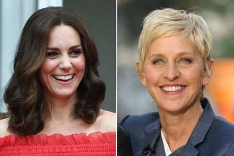 "<p>According to the <a href=""http://newsfeed.time.com/2011/02/13/unlikely-family-ellen-degeneres-and-kate-middleton-are-15th-cousins/"" target=""_blank"">New England Genealogical Society,</a> the Duchess of Cambridge<span class=""redactor-invisible-space"" data-verified=""redactor"" data-redactor-tag=""span"" data-redactor-class=""redactor-invisible-space""> and talk show host </span>Ellen DeGeneres are 15th cousins. Their relative connection is Sir Thomas Fairfax and his wife, Agnes Gascoigne, who lived during the 1500s.</p>"