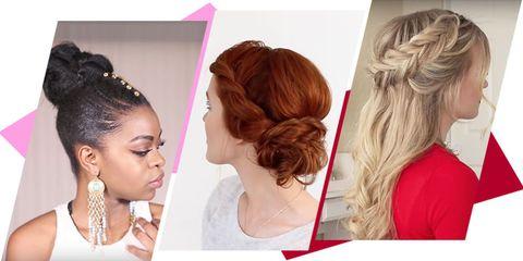 Hair, Hairstyle, Chin, Long hair, Blond, Beauty, Brown hair, Hair coloring, Chignon, Fashion accessory,