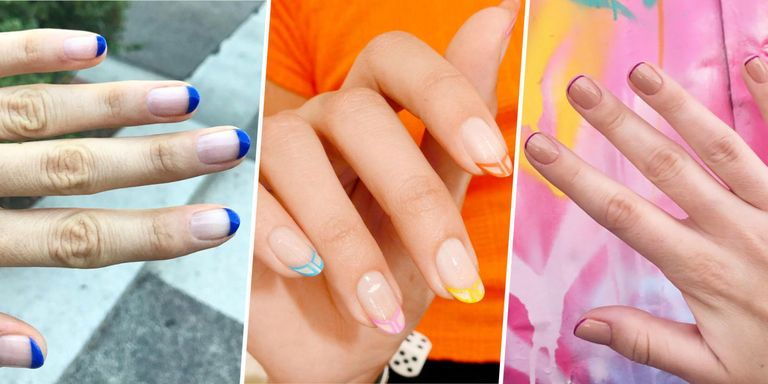 The 13 prettiest and modern french manicure ideas unique french french manicures are officially trending again but with a modern twist urmus Choice Image