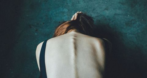 Hair, Shoulder, Back, White, Skin, Blue, Neck, Joint, Beauty, Hairstyle,