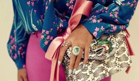 Street fashion, Turquoise, Fashion, Pink, Eyewear, Magenta, Dress, Footwear, Design, Nail,