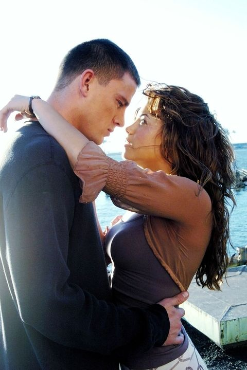 "<p>Dewan and Tatum play love interests in the 2006 film, <em data-redactor-tag=""em"">Step Up</em>. They fell in love on-set and were engaged two years later, officially tying the knot in 2009. <a href=""http://www.marieclaire.com/health-fitness/news/a28920/inside-jenna-dewan-tatum-daily-schedule/"" target=""_blank"" data-tracking-id=""recirc-text-link"">Dewan</a> and Tatum are still going strong and are #goals.&nbsp&#x3B;</p>"