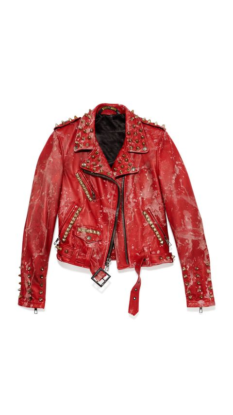 Clothing, Collar, Sleeve, Coat, Red, Textile, Outerwear, White, Pattern, Jacket,