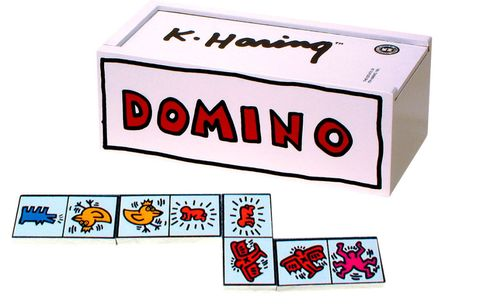 keith haring pop art dominoes