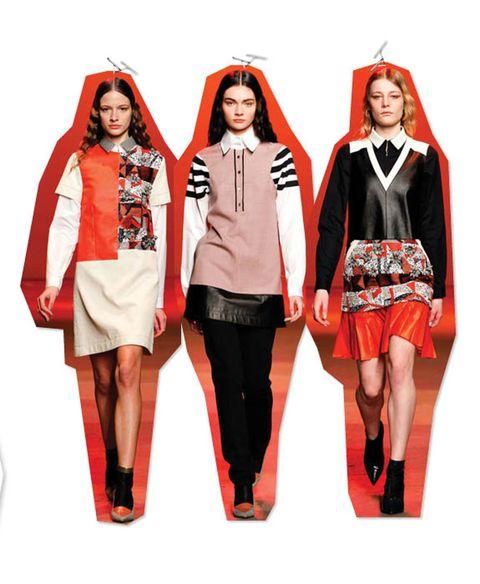 Sleeve, Red, Collar, Style, Orange, Costume accessory, Fashion, Maroon, Costume design, Costume,