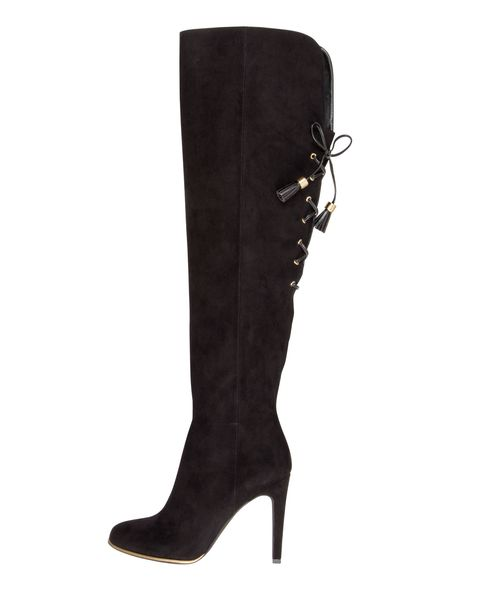 Boot, Leather, Costume accessory, Knee-high boot, Foot, Fashion design, High heels, Riding boot, Dress shoe,