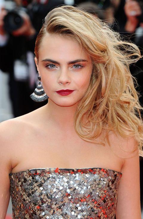 Lip, Hairstyle, Shoulder, Eyelash, Style, Fashion model, Beauty, Strapless dress, Day dress, Model,
