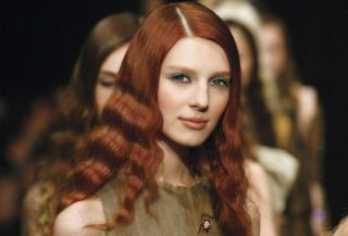 model with red hair color