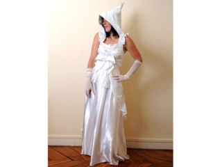 wedding gown with goblin hood
