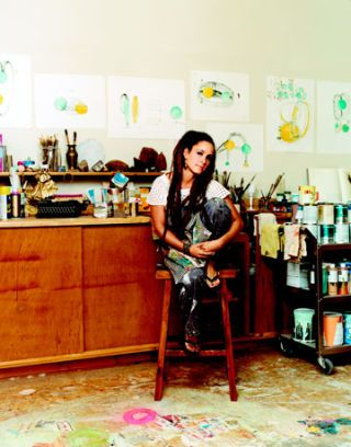 nicole buffet in her art studio
