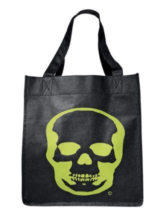 skull grocery bag