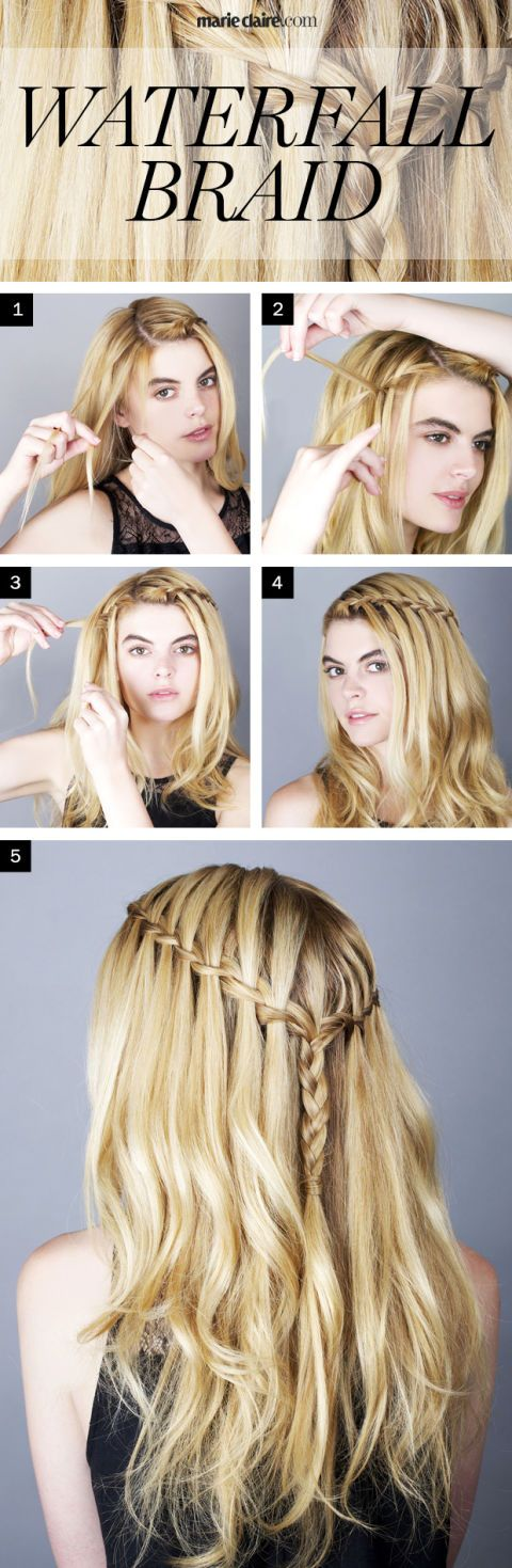 How To Do A Waterfall Braid By Luxy Hair Tutorial