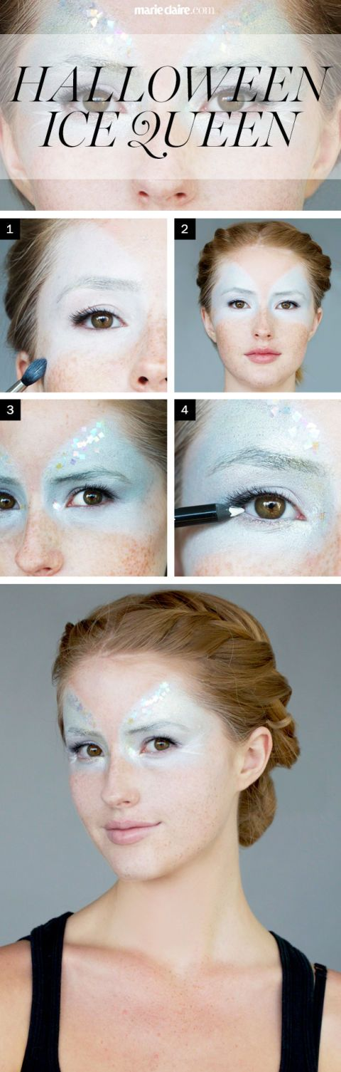 Halloween Makeup How-To: The Ice Queen Mask