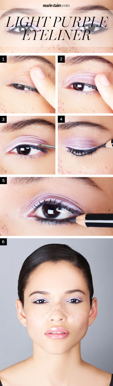 Makeup How To Wear Light Purple Eyeliner For Brown Eyes