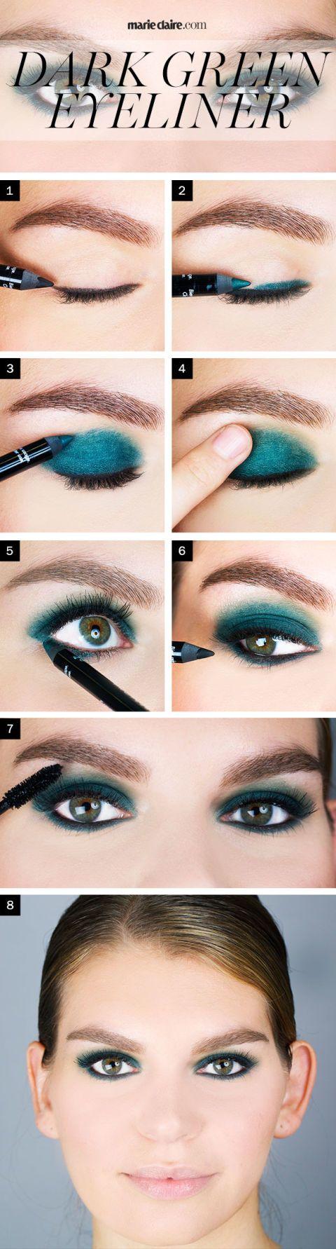 Makeup How-To: Dark Green Eyeliner