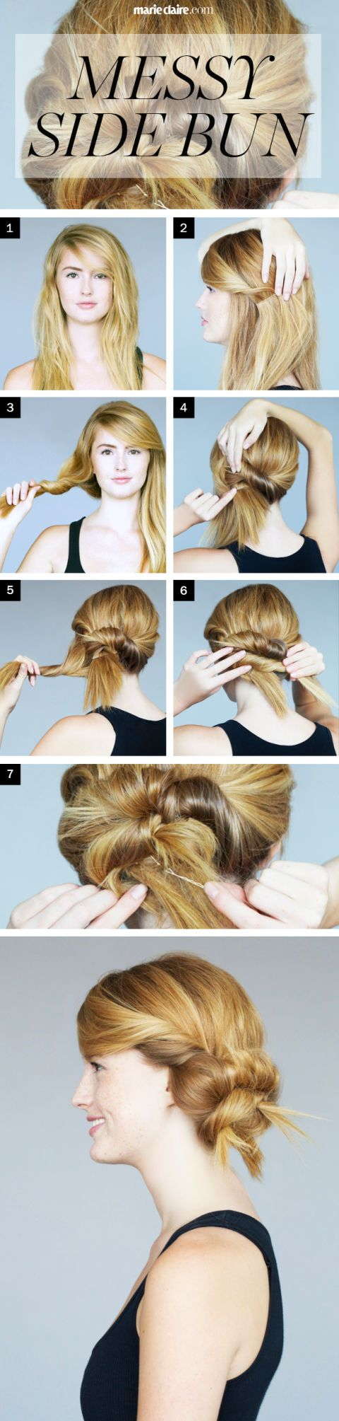 Hair How-To: Messy Side Bun with a Twist