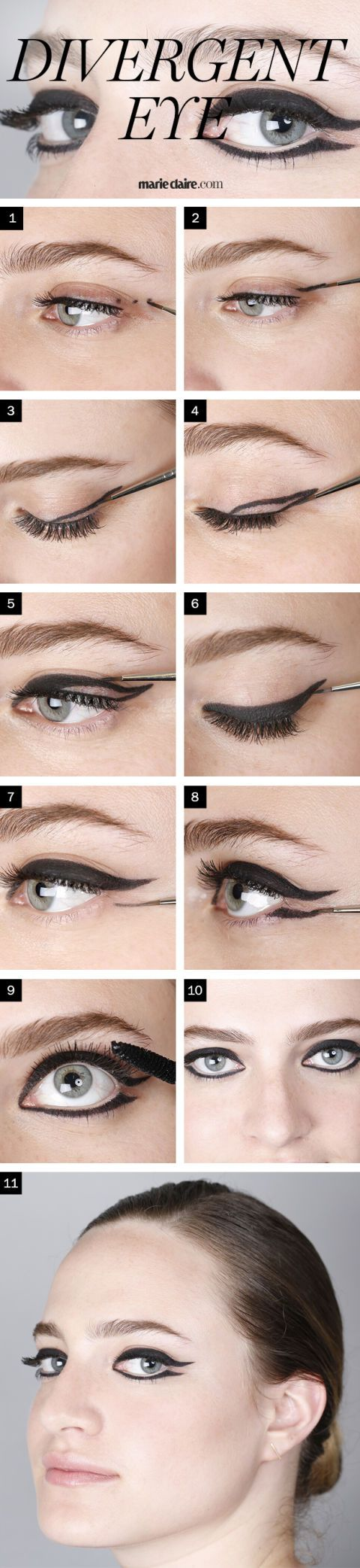 Makeup How To Divergent Eyeliner Look