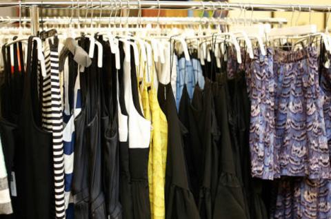 Blue, Yellow, Textile, Clothes hanger, Fashion, Electric blue, Collection, Fashion design,