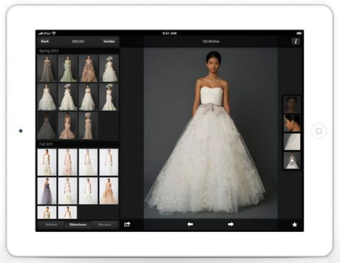 Vera wang on weddings ipad and iphone app vera wang weddings app vera wang wedding app junglespirit Choice Image