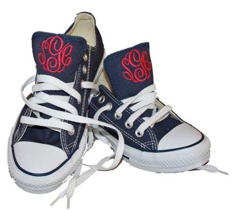 47db7bba4aab7 Monogrammed Converse Sneakers - The Monogram Studio Chuck Taylors