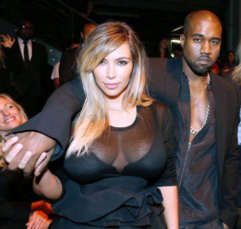 kim kardashian kanye west engaged