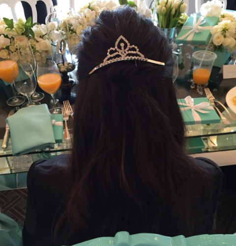 Go Inside Kourtney Kardashianu0027s Breakfast At Tiffanyu0027s Themed Baby Shower