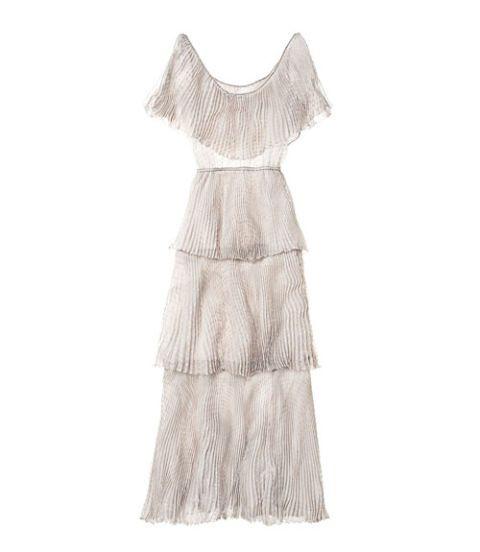 Textile, Dress, One-piece garment, Pattern, Day dress, Beige, Fashion design, Costume design, Pattern,